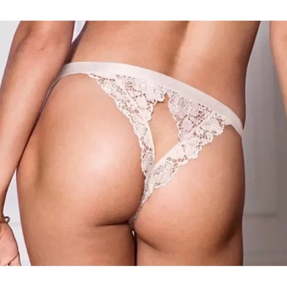 40ca0640d2d VS open back cheekini thong peek-a-boo lace Panty